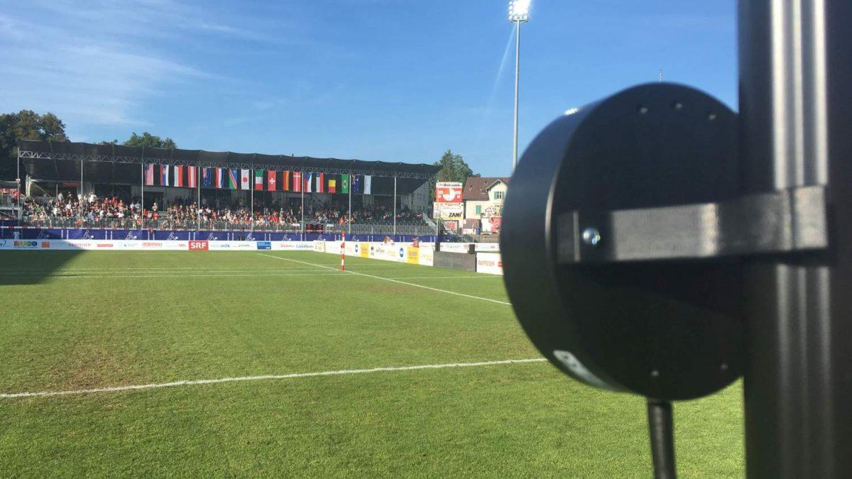 Geschwindigkeitsmessung im Faustball_WM 2019 Winterthur_Arenavariante