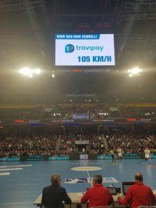 geschwindigkeitspresenting handball