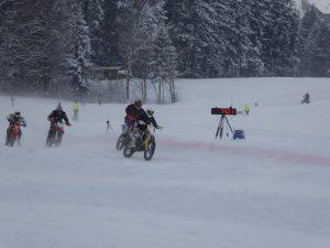 Geschwindigkeitsmessung beim Ice Racing