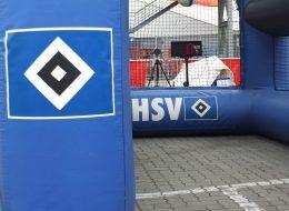 Speedmaster Fußball Bundesliga HSV Eventvariante Geschwindigkeitsmessung und Inflatable Goal