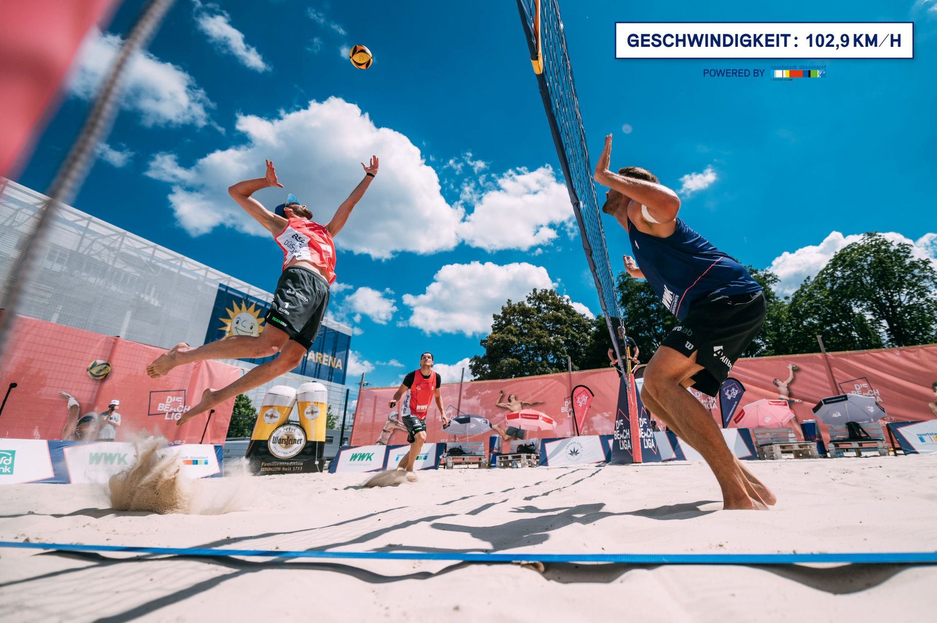 The Beach League – speed measuring in beach volleyball