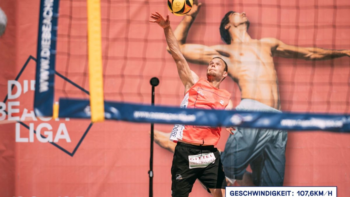 The Beach League – service speed measuring in beach volleyball