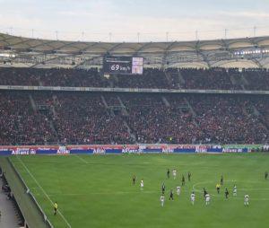 Geschwindigkeitspresenting VfB Stuttgart, Presenting auf Arenaleinwand 2