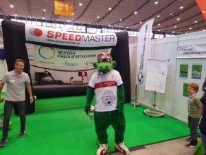 Speed measuring system as fair-highlight-branded inflatable goal-fritzle