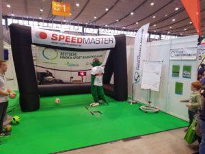 Speed measuring system as fair-highlight-branded inflatable goal-vfb stuttgart