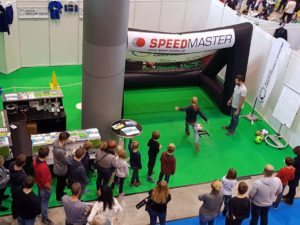 Speed measuring system-inflatable goal with branding