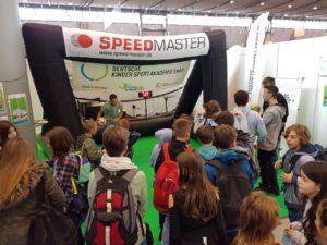 Speed measuring system-inflatable goal-fair stuttgart