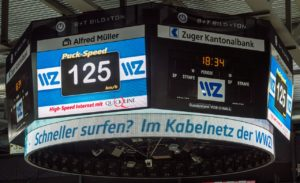 Speedmaster arena version-speed presenting in ice hockey