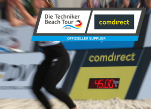 beachvolleyball-service speed presenting-sponsoring comdirect-led display