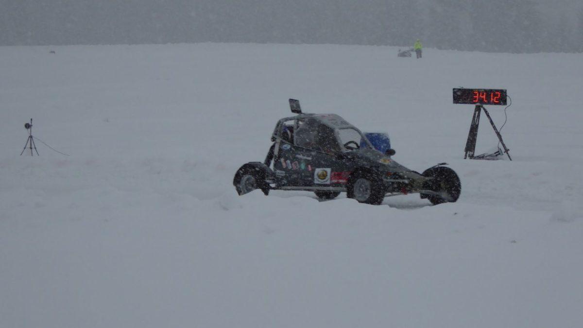 speed measurement in motorsport-ice racing Alberschwende