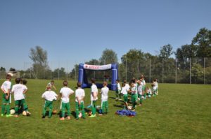 speed measurement system and the inflatable goal-football-camp