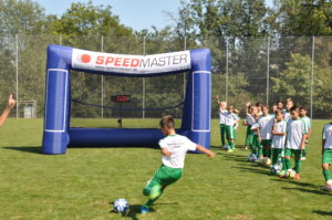 speed measurement system and the inflatable goal-football-training tool