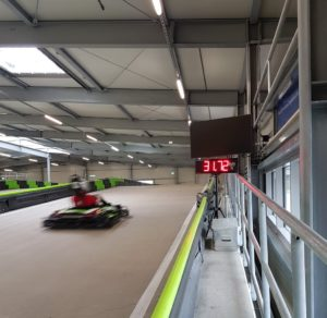 detecting and displaying of go-kart speeds-fully automatic