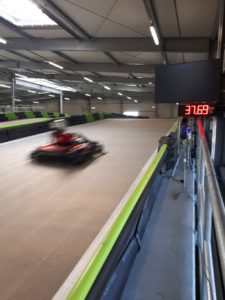 detecting and displaying of go-kart speeds-karttrack osnabrueck