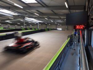 detecting and displaying of go-kart speeds-radar system