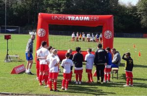 Measuring of the shooting strength at FSV Mainz 05