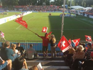 Speed measuring at the Fistball World Championships 2019 winterthur_arena design1