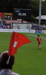 Speed measuring at the Fistball World Championships 2019 winterthur_speed presenting
