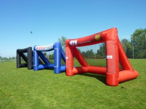 speedmaster products-inflatable goal with banner