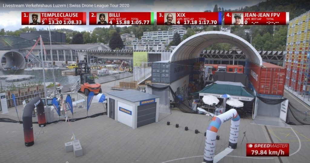 speed measuring of drone racing_presenting livestream
