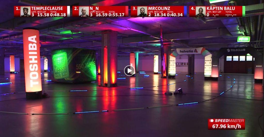 speed measuring of drone racing_speed presenting livestream