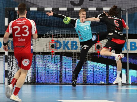 Arenavariante Handball Geschwindigkeitspresenting HC Erlangen