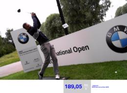 Speedmaster FotoTool generiertes Foto Geschwindigkeitsmessung Abschlag Golf