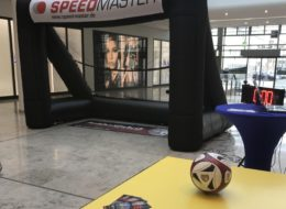 Speedmaster PP-Event speed meassuring setup and inflatable goal, Event Modul e football