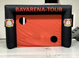 Speedmaster inflatable goalwith print Bayer Leverkusen