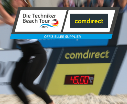 fastest service game Techniker Beachtour Beach volleyball Arena design