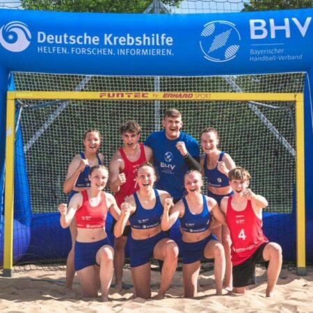 Aufblasbares Tor mit Branding und Banner_BHV_Deutsche Krebshilfe