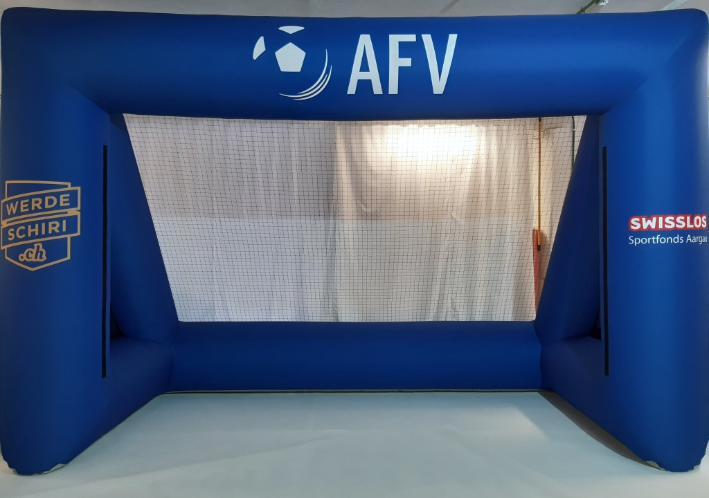 Aufblasbares Tor mit Direktdruck_Aargauischer Fussballverband